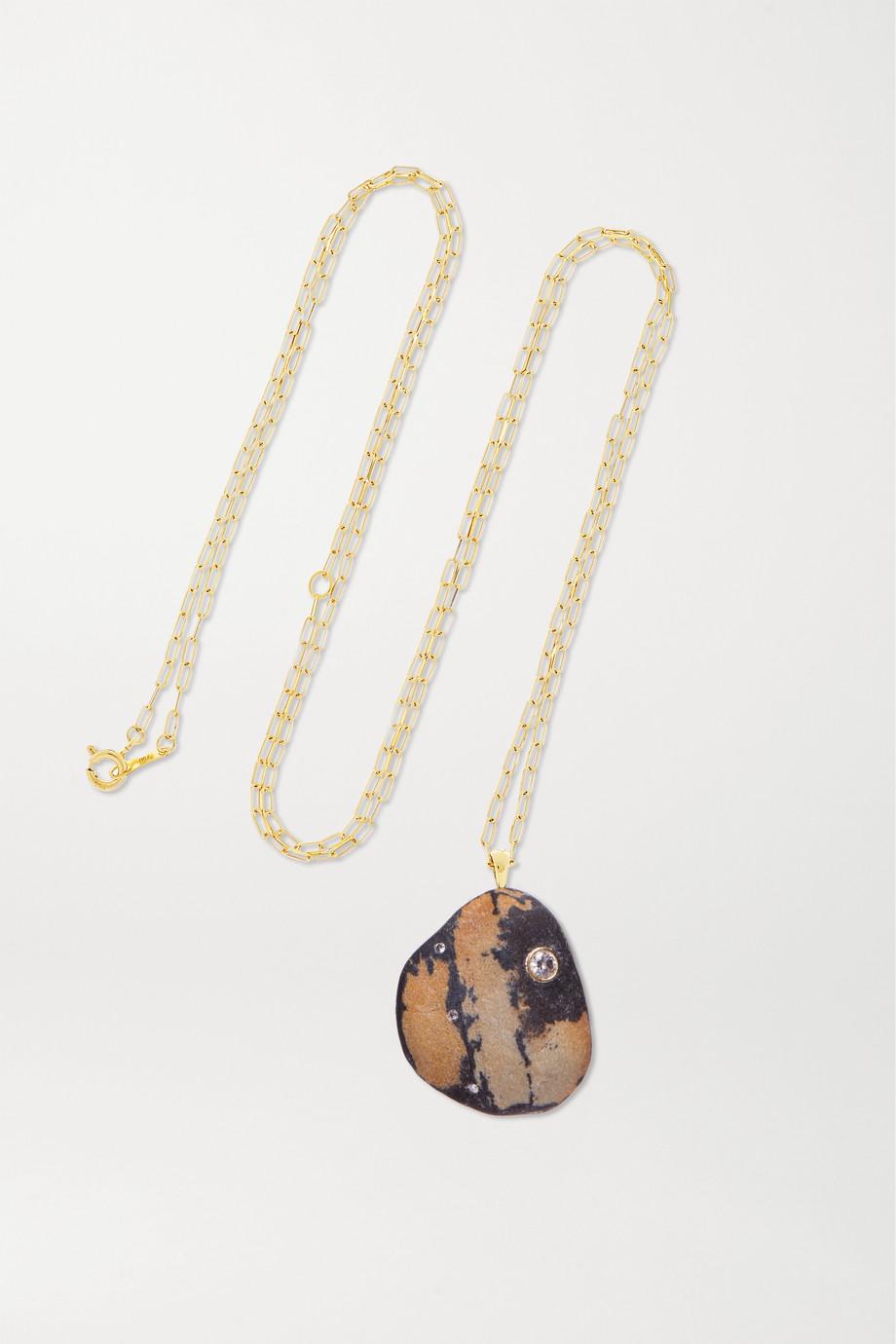 CVC Stones Rebellious 18-karat gold, stone and diamond necklace
