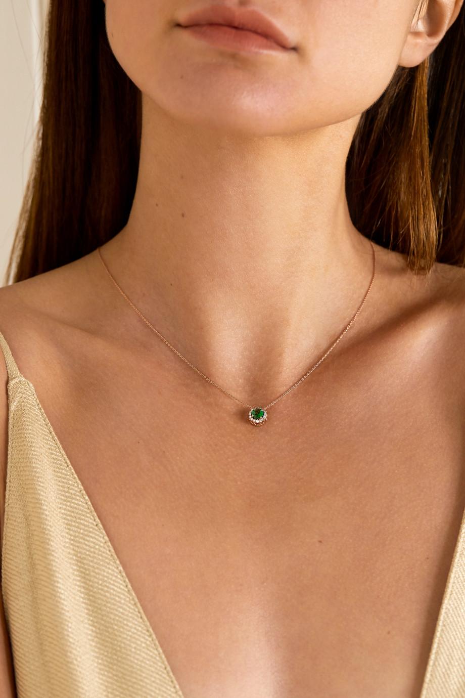 Selim Mouzannar Beirut Basic 18-karat rose gold, tsavorite and diamond necklace