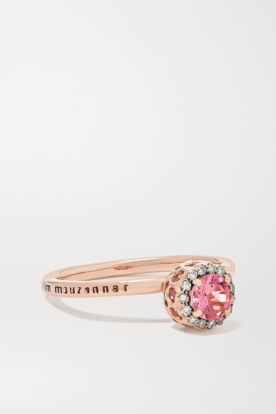 Selim Mouzannar Beirut Basic 18-karat rose gold, tourmaline and diamond ring