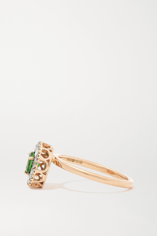 Selim Mouzannar 18-karat rose gold, diamond and tsavorite ring