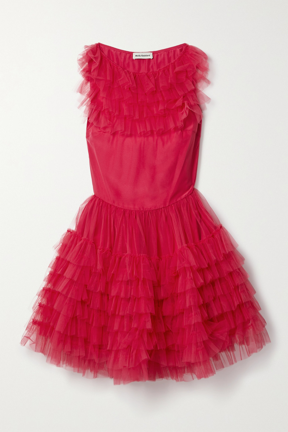 Molly Goddard Felicity ruffled tulle mini dress