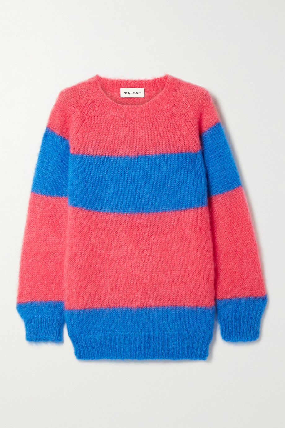 Molly Goddard Noah striped mohair-blend sweater