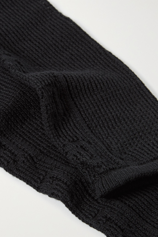 Gucci Pointelle-knit cotton-blend gloves