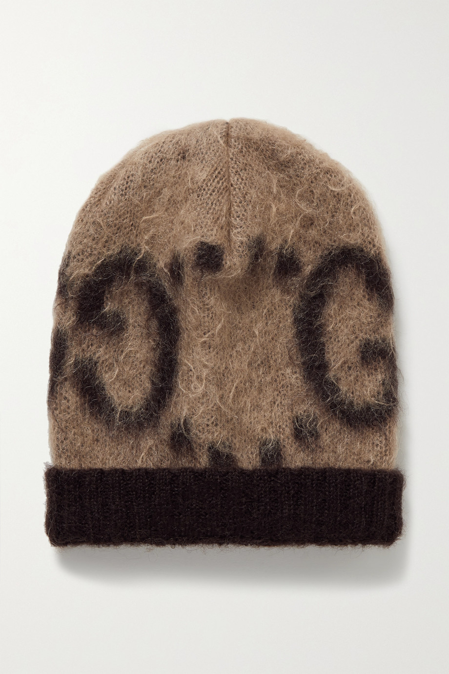 Gucci Brushed mohair-blend jacquard beanie