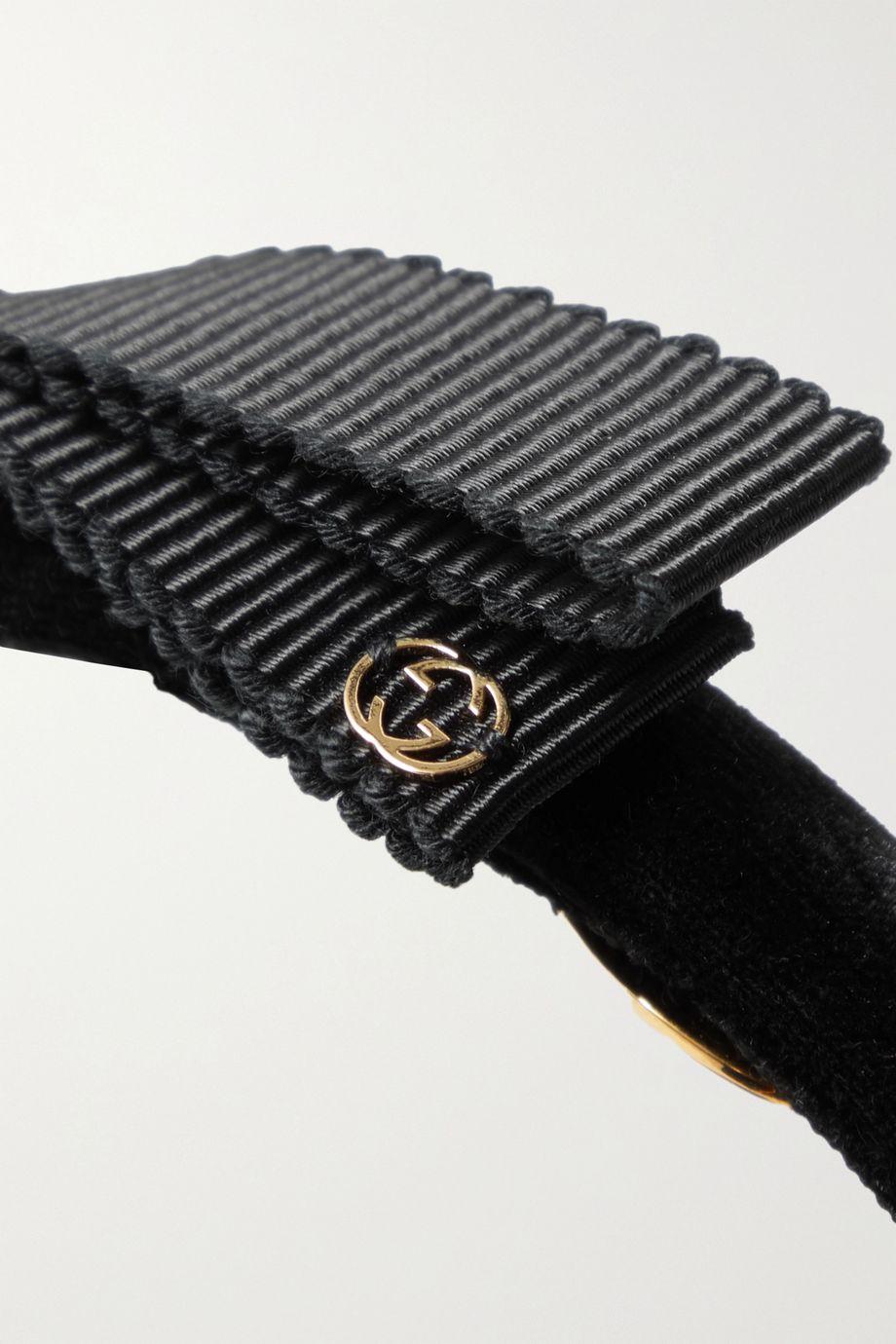 Gucci 带缀饰罗缎天鹅绒发箍