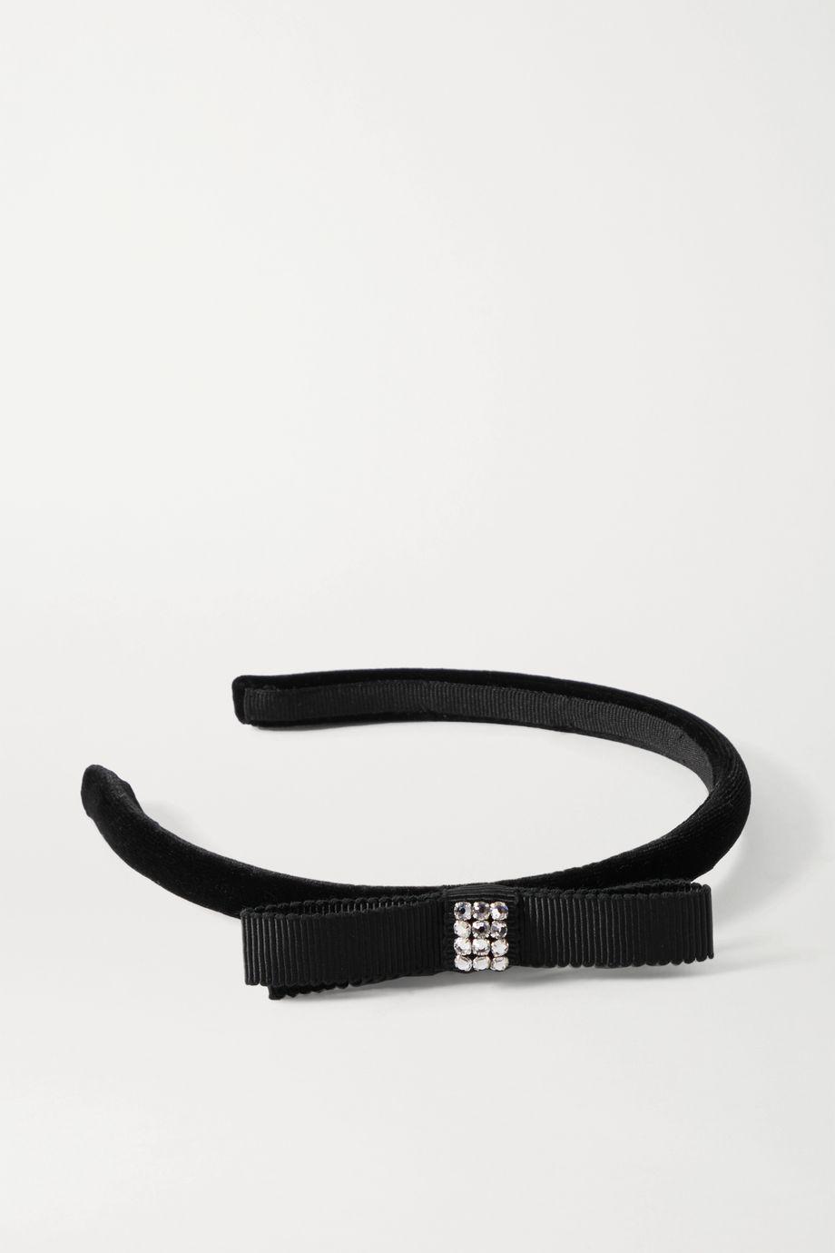 Gucci Haarreif aus Samt und Ripsband mit Verzierungen