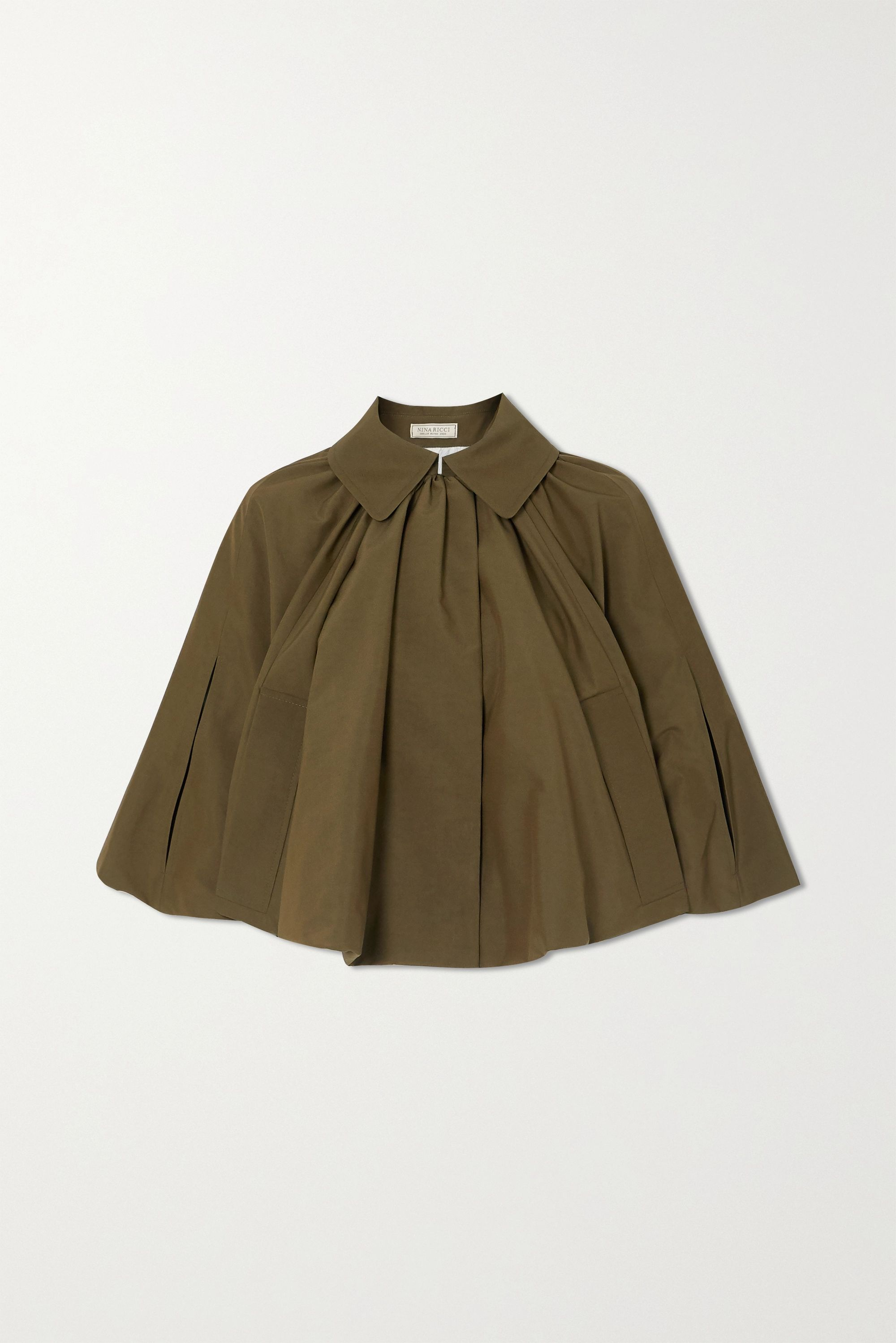 Nina Ricci Gathered faille cape