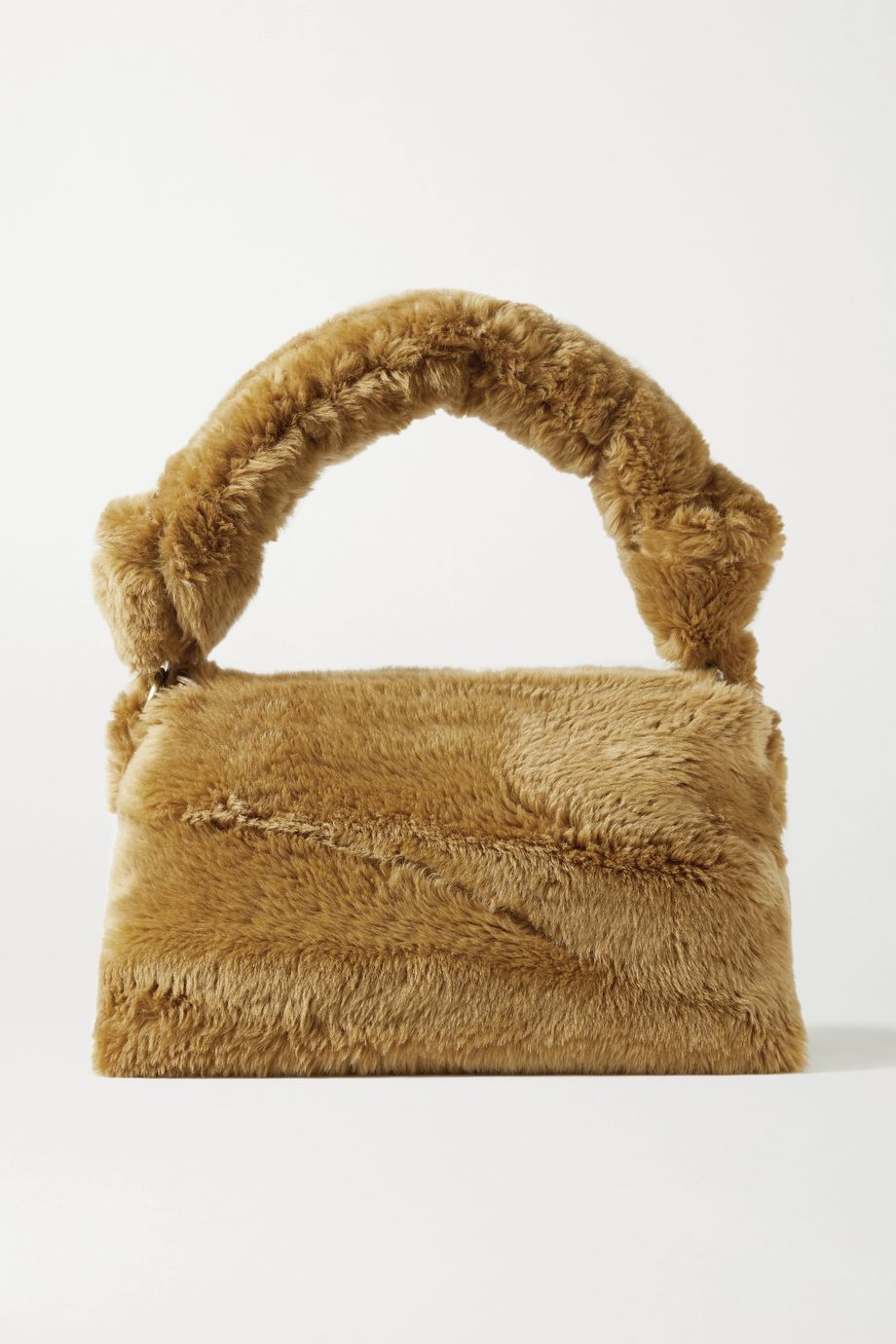Dries Van Noten Pillow large shearling tote