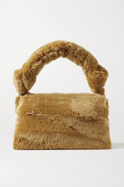 Dries Van Noten Pillow large shearling tote