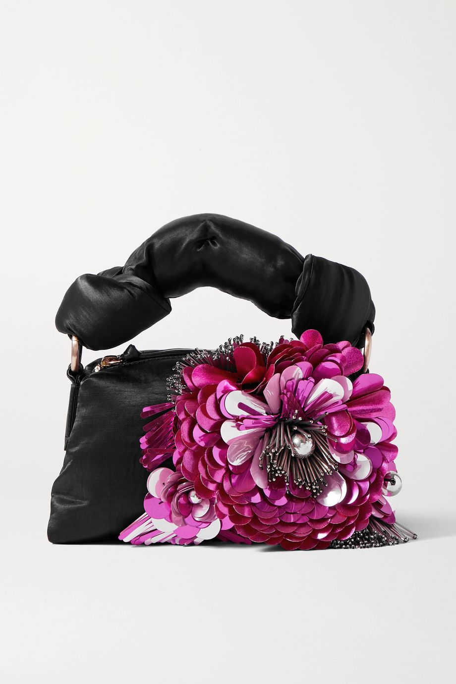 Dries Van Noten Pillow embellished satin tote