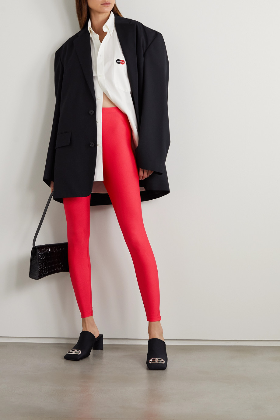 Balenciaga Stretch satin-jersey leggings