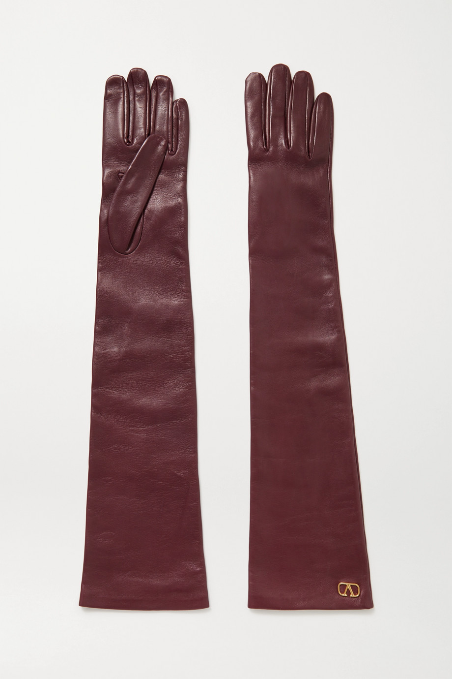Valentino Valentino Garavani embellished leather gloves