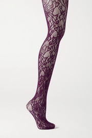 Dries Van Noten Floral stretch-lace tights