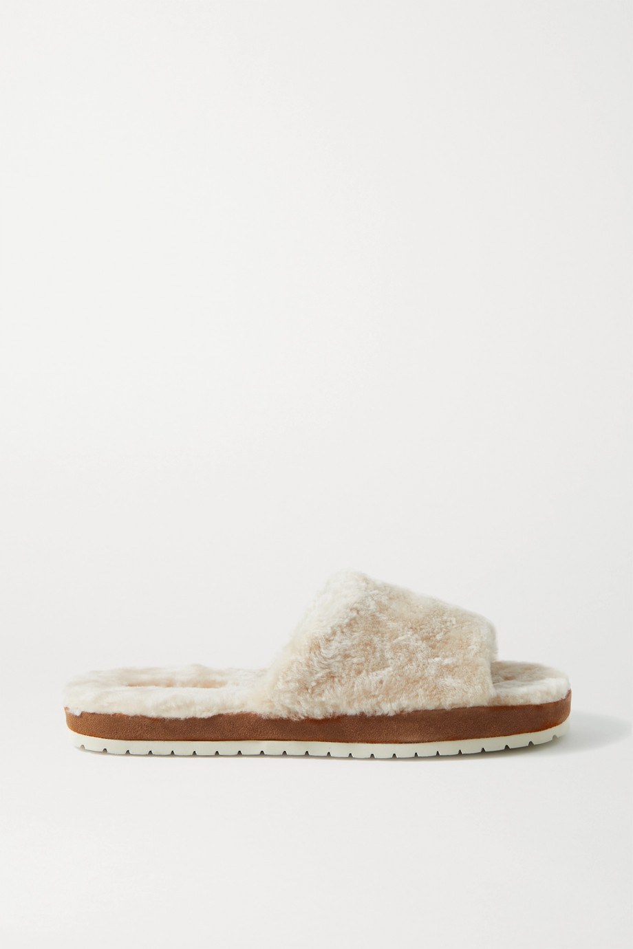 Vince Kalina shearling and suede slides