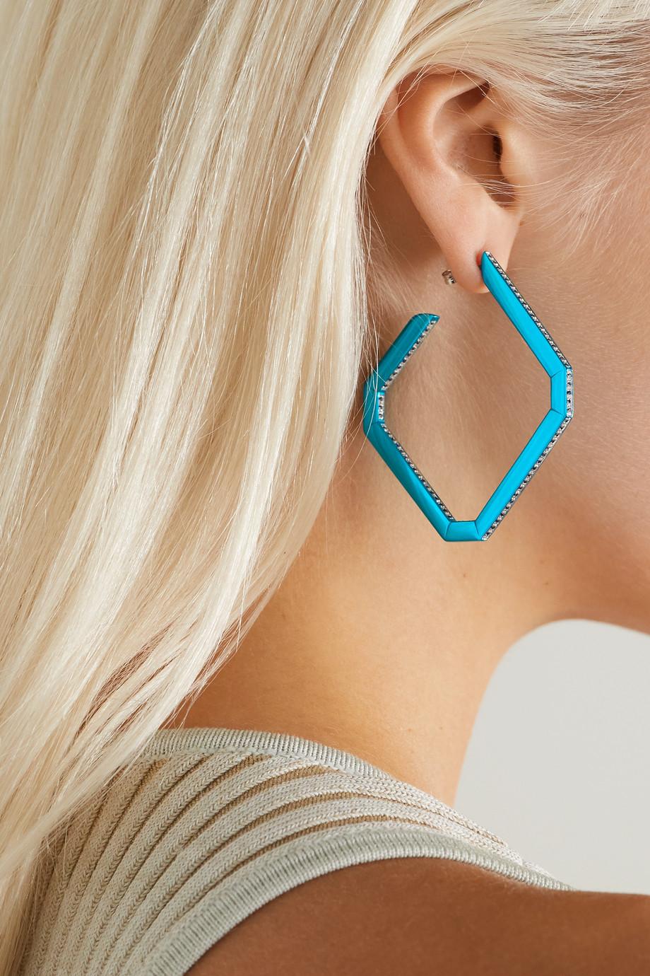 EÉRA Allegra silver sapphire earring