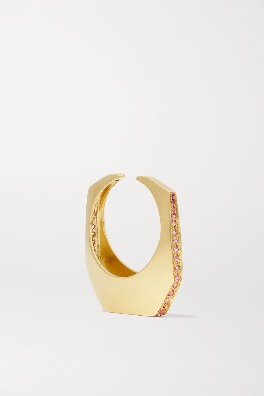 EÉRA Sabrina convertible 18-karat gold sapphire ear cuff