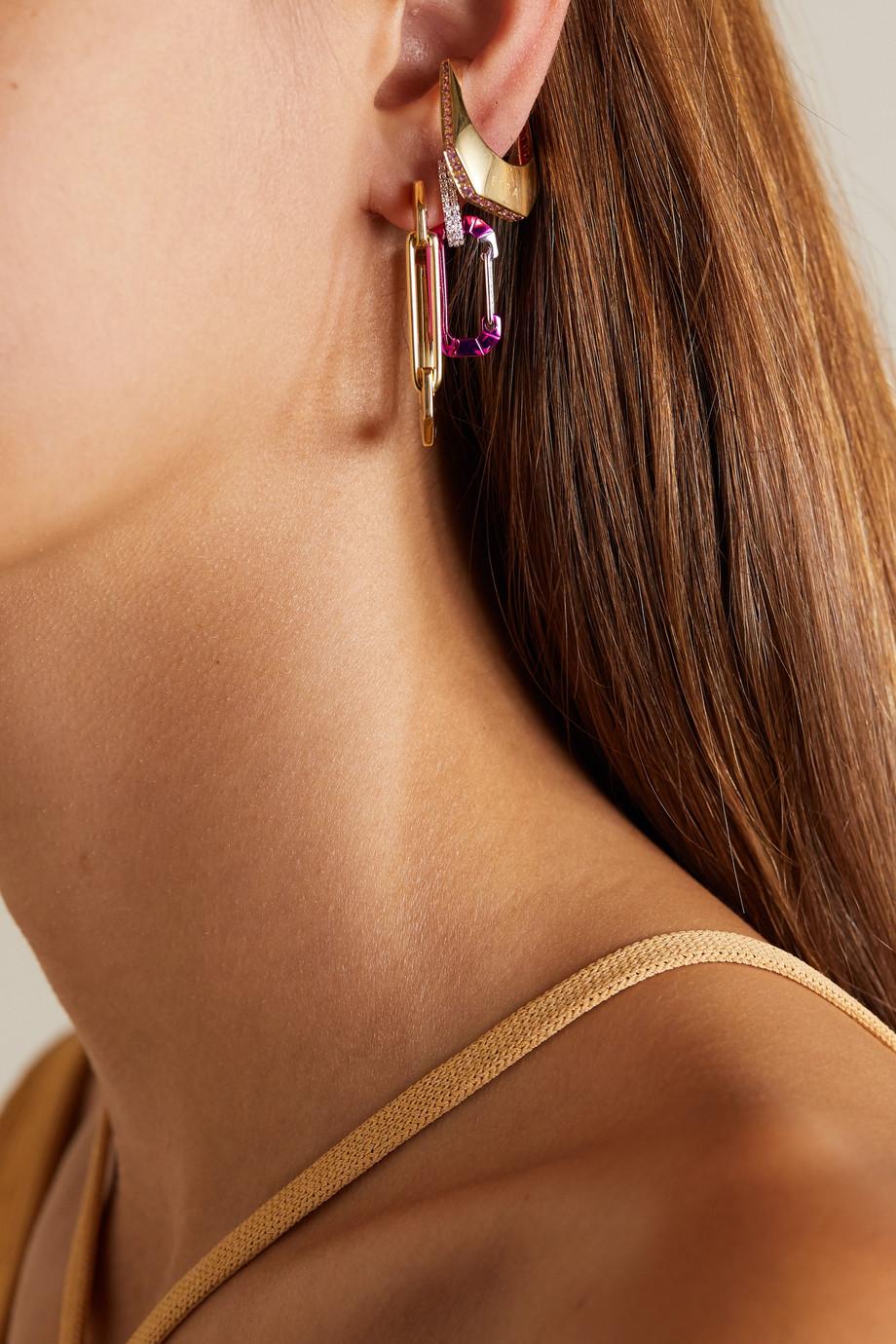 EÉRA Chiara white gold and silver diamond earring