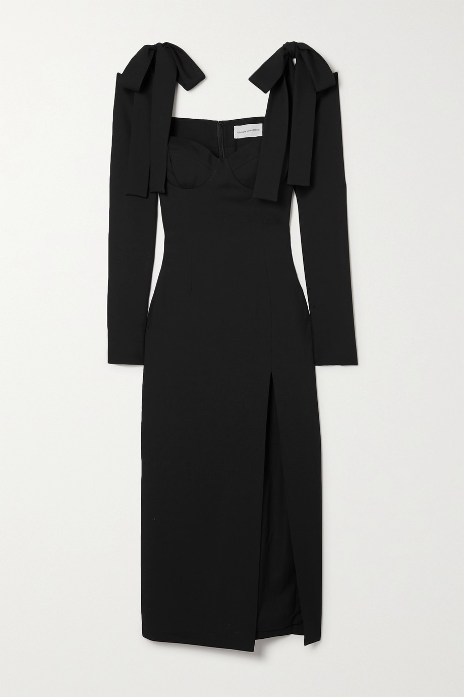 Aleksandre Akhalkatsishvili Cold-shoulder wool-twill midi dress