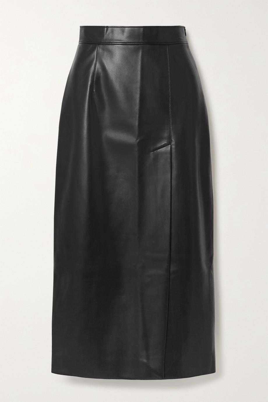 Aleksandre Akhalkatsishvili 人造皮革中长半身裙