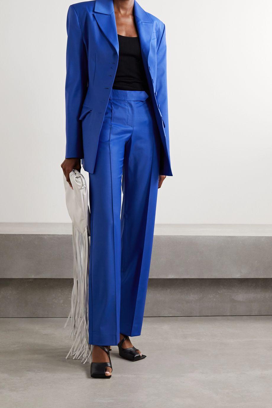 Aleksandre Akhalkatsishvili Wool-blend straight-leg pants