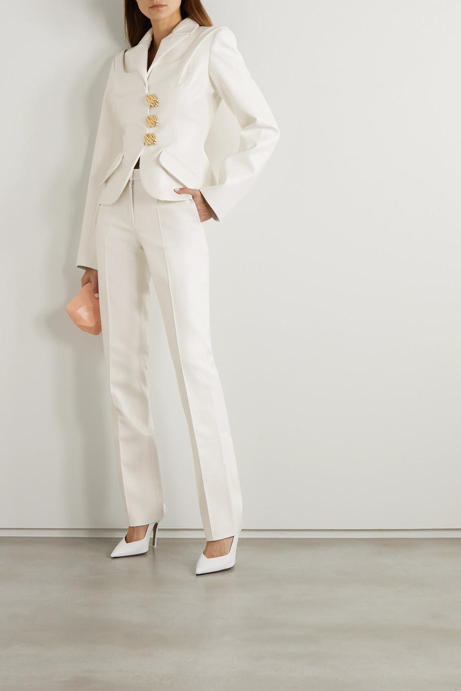 Lado Bokuchava Faux leather straight-leg pants