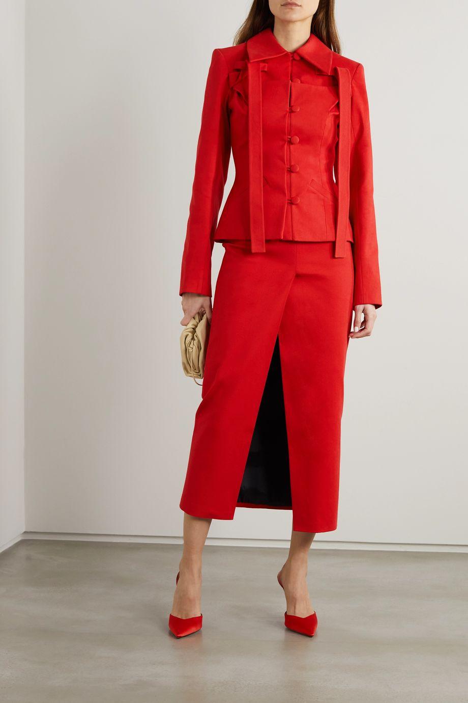 Lado Bokuchava Cotton-twill maxi skirt