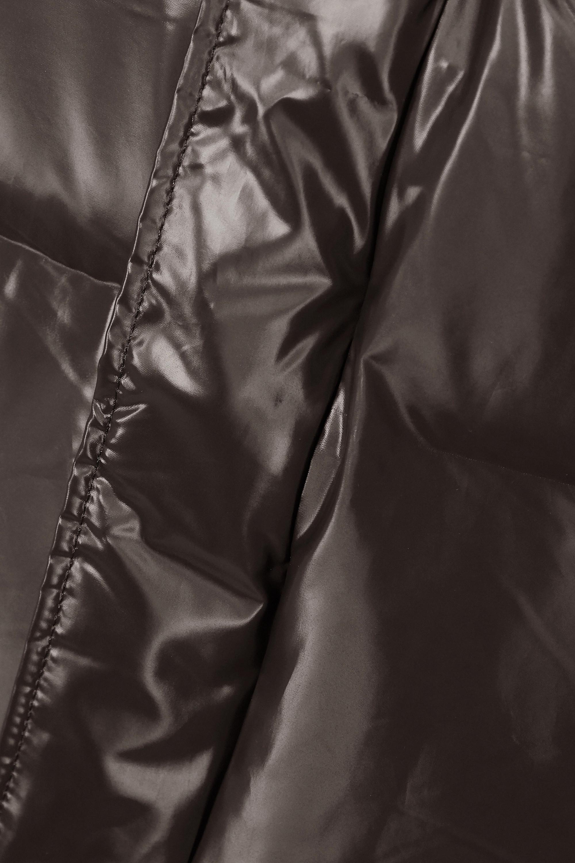 Rains Doudoune à capuche en tissu technique laqué