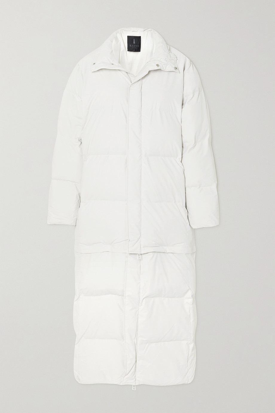 Rains Convertible quilted padded shell coat