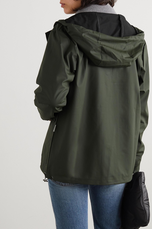 Rains Manteau à capuche en tissu technique