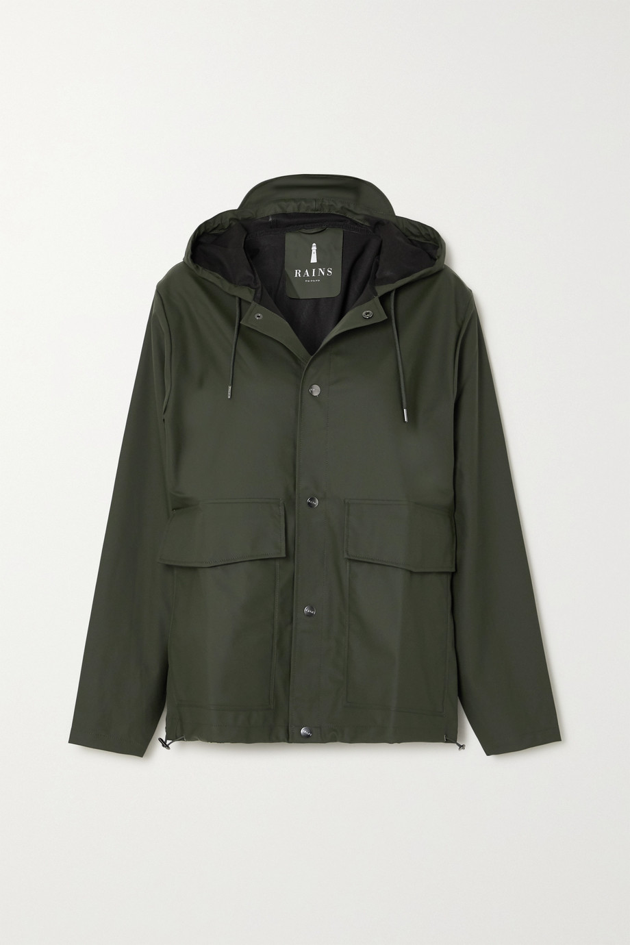 Rains Hooded shell coat