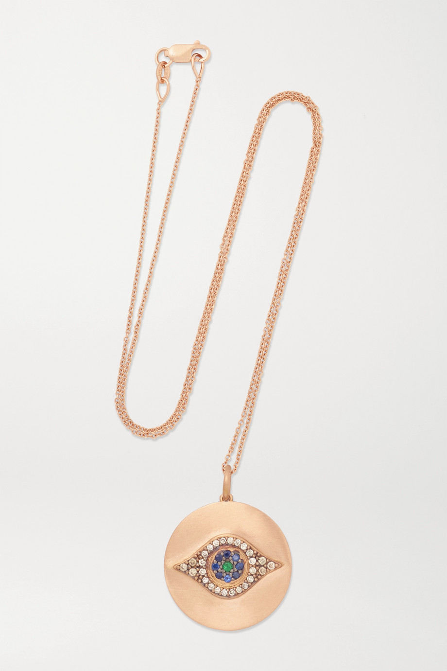 Ileana Makri Golden Dawn 18-karat rose gold multi-stone necklace
