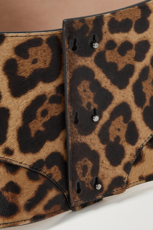 Alaïa Taillengürtel aus Kalbshaar mit Leopardenprint