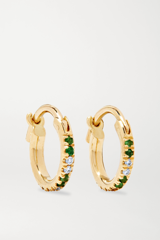Ileana Makri 18K 黄金、沙弗莱石、钻石耳环