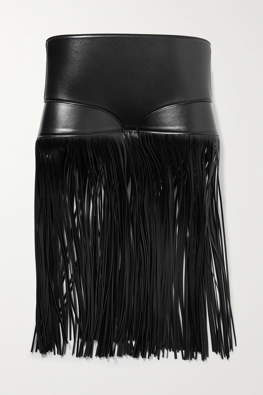 Alaïa Taillengürtel aus Leder mit Fransen
