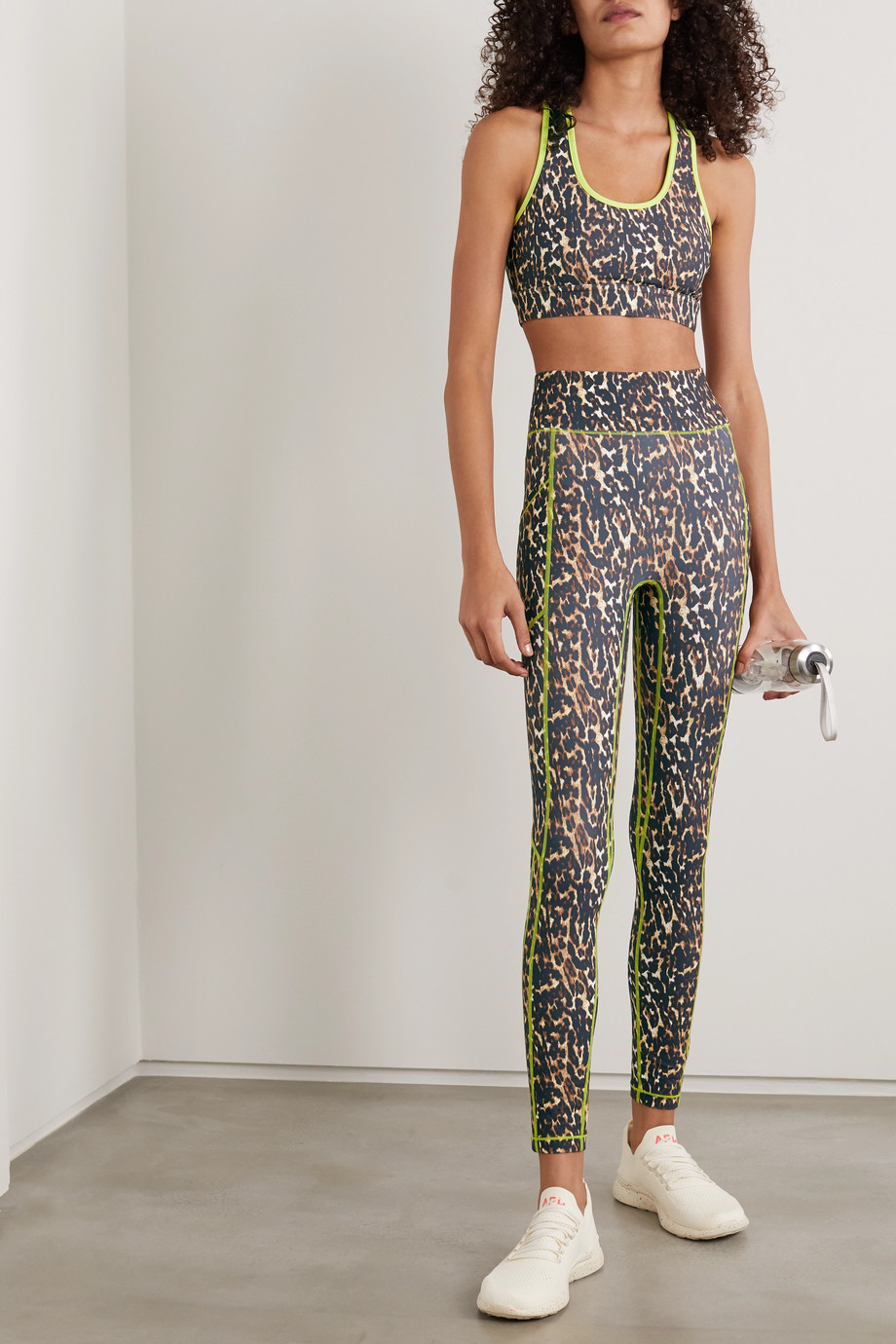 All Access Centre Stage leopard-print stretch leggings