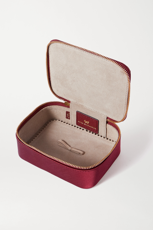 Anya Hindmarch Boîte à bijoux en satin à finitions en cuir imprimé Keepsake