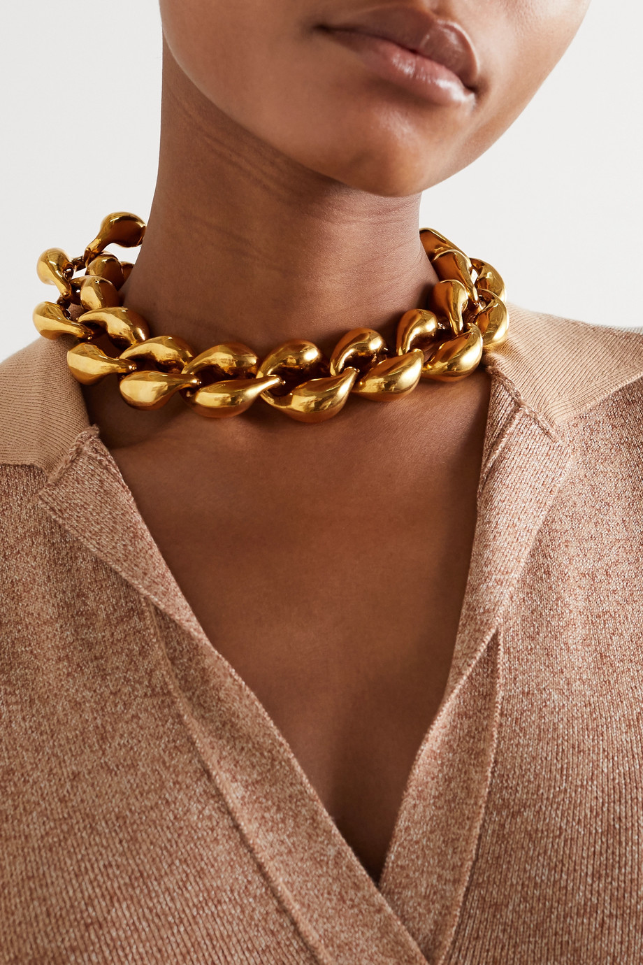 Chloé Gold-tone chain necklace