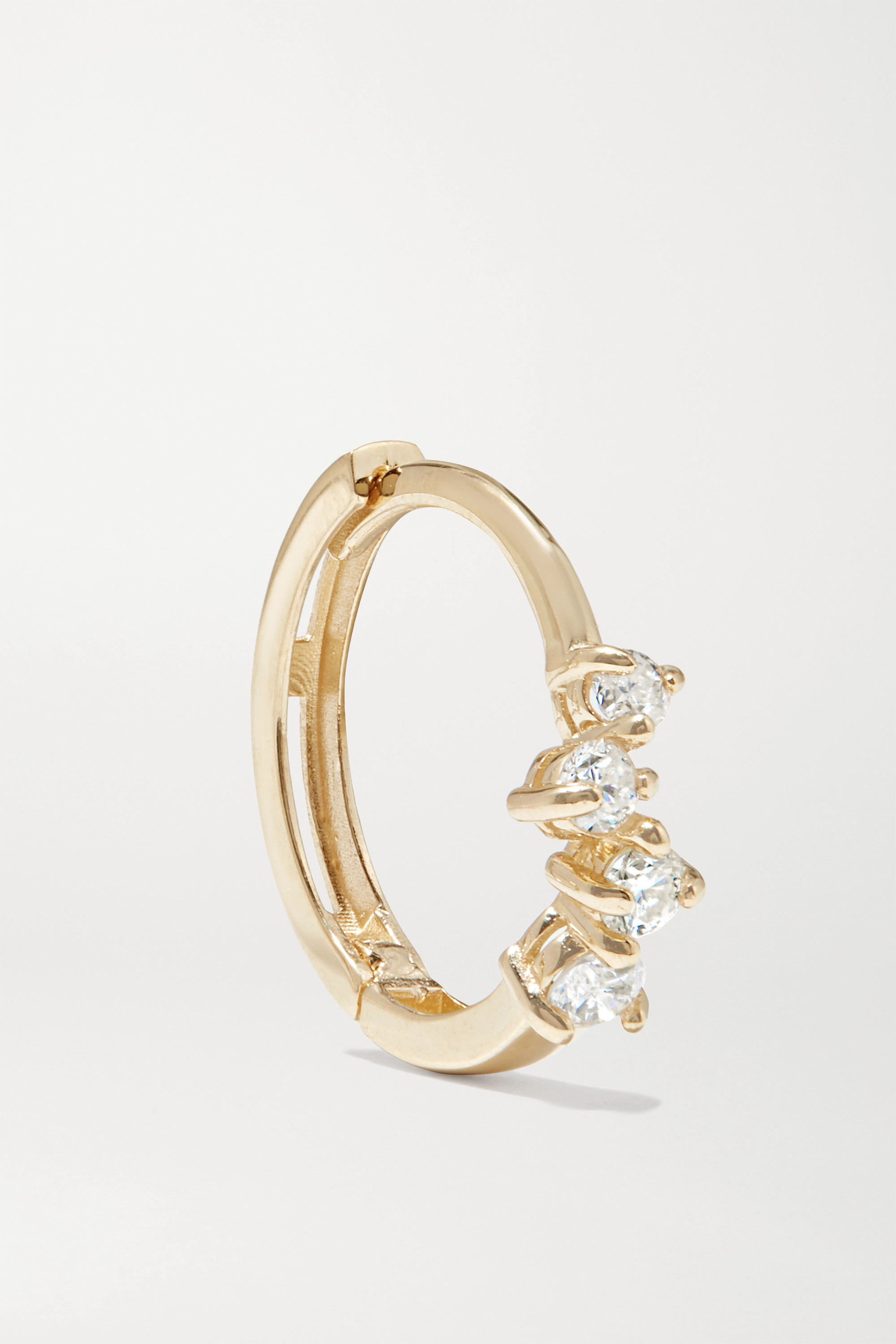STONE AND STRAND Sparkle gold diamond hoop earring