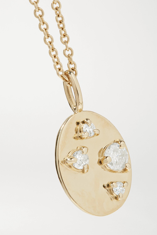 STONE AND STRAND Kette aus 14 Karat Gold mit Diamanten