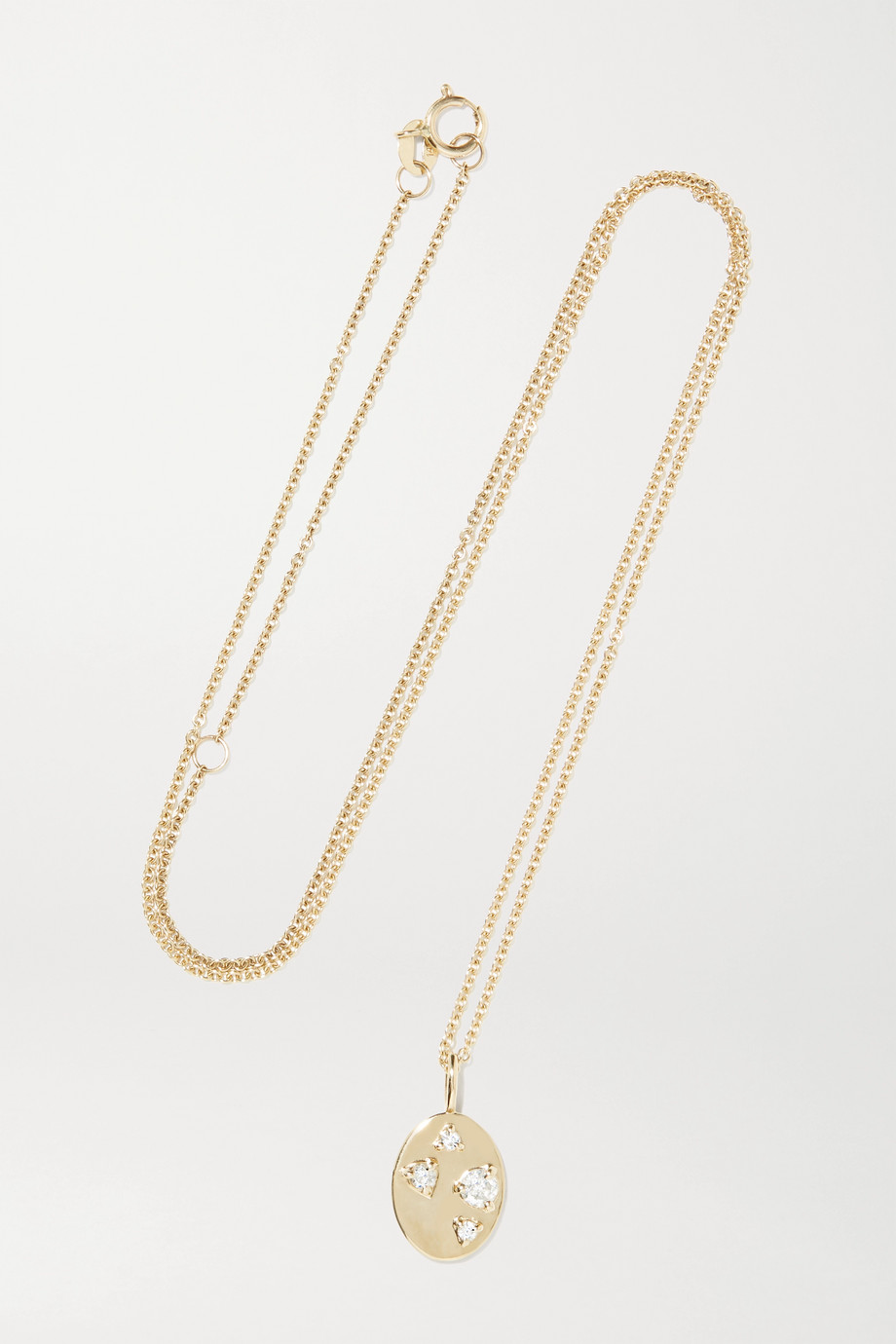 STONE AND STRAND 14-karat gold diamond necklace