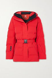 IENKI IENKI Sheena hooded belted quilted down ski jacket