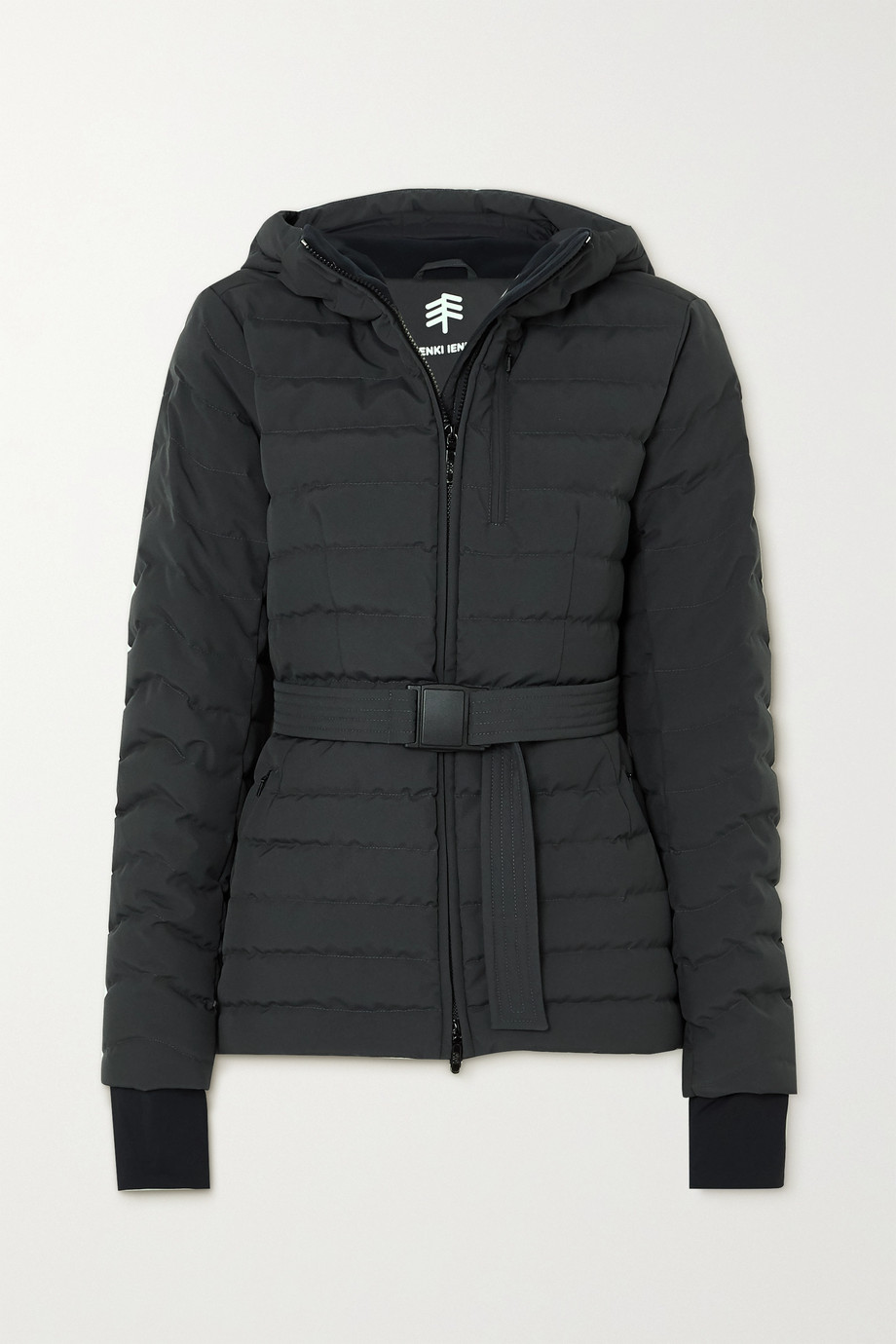 IENKI IENKI Basq hooded belted quilted down ski jacket