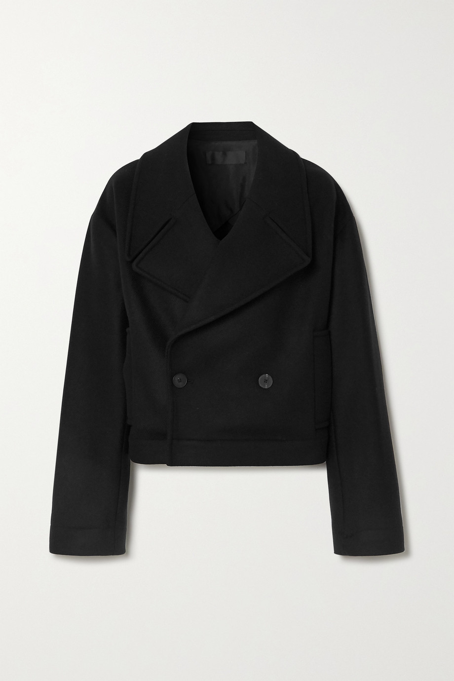 Haider Ackermann Double-breasted wool-blend twill jacket