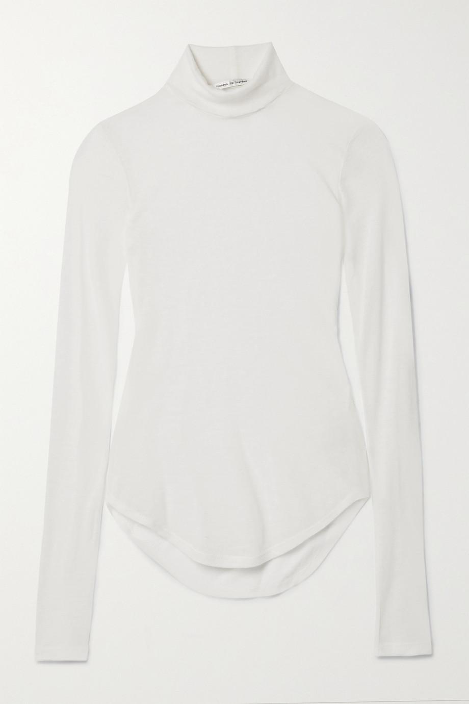 Frances de Lourdes Lucie slub cashmere and silk-blend turtleneck sweater