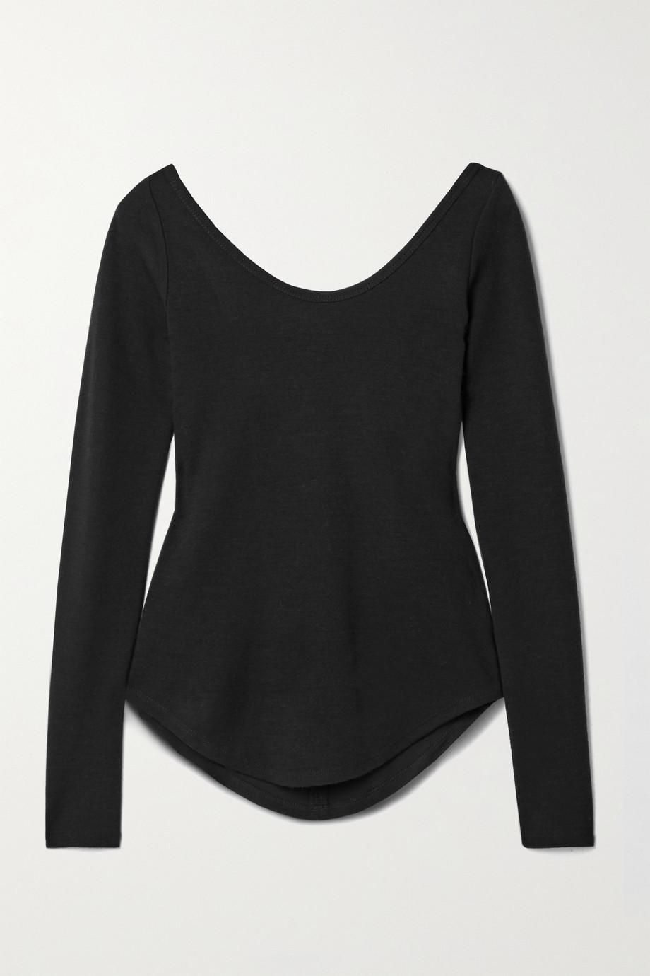 Frances de Lourdes Aurelia stretch-knit top