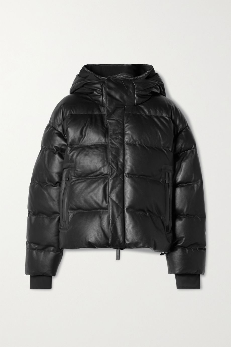 TEMPLA Naswa hooded quilted leather down jacket