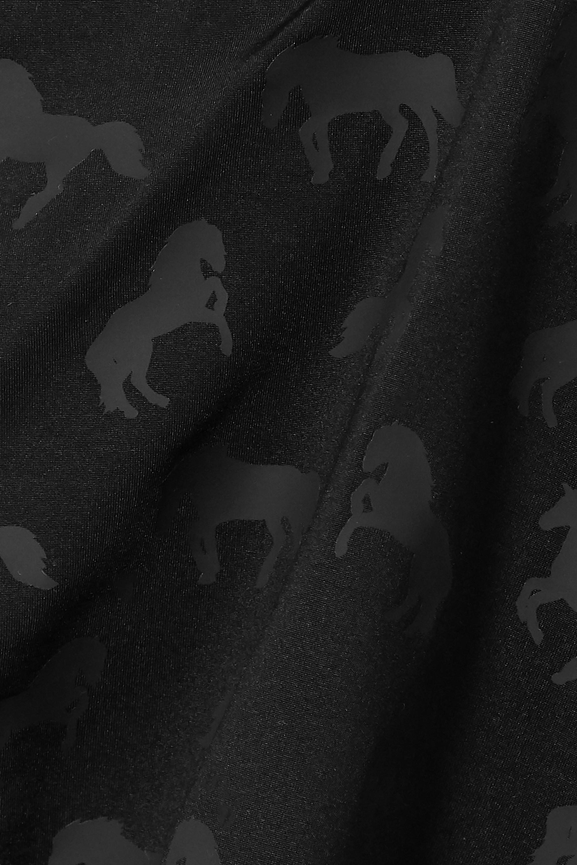 Stella McCartney Ruched printed halterneck swimsuit