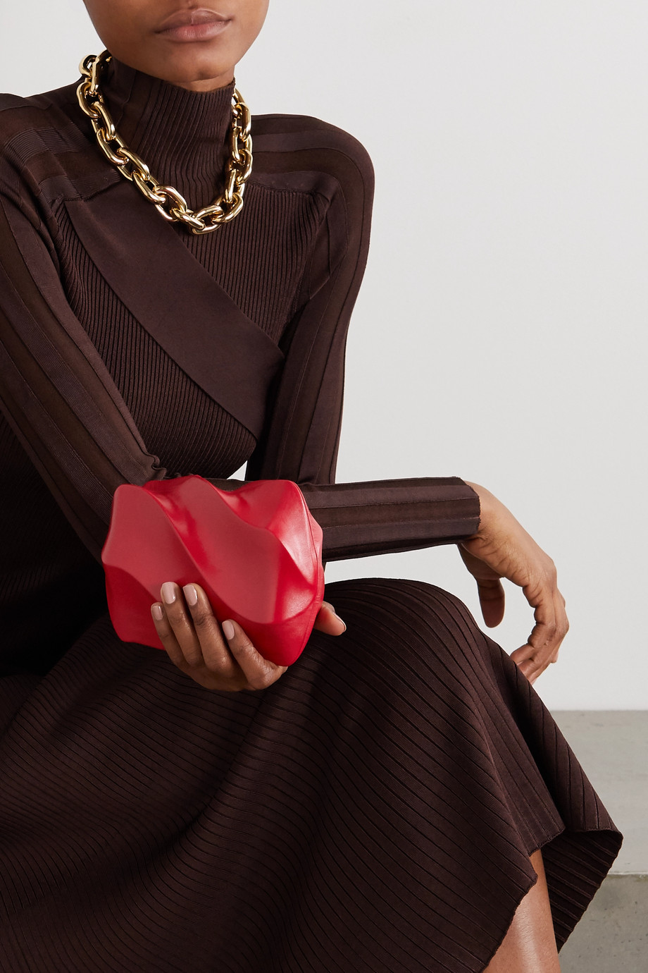 Bottega Veneta Candy leather clutch