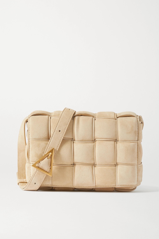 Bottega Veneta Cassette padded intrecciato suede shoulder bag