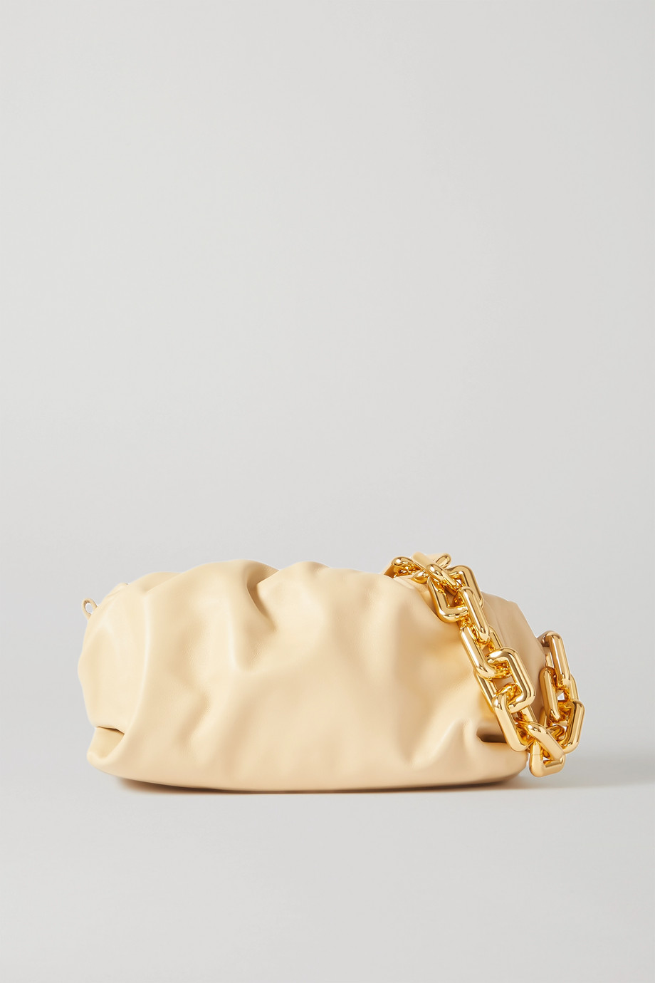 Bottega Veneta The Chain Pouch 缩褶皮革手拿包